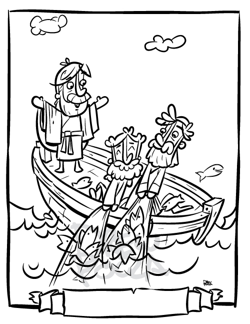 luke 5 coloring pages - photo#1